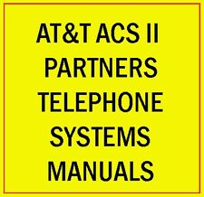 AT&T ACS II Partner Phone System Manual Guide Lucent Avaya Plus Mail Endeavor CD