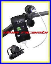 Attacco doppia presa USB 12v con attacco da Maubrio Moto ATV QUAD tenuta stagna