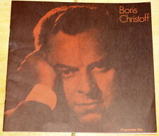 BORIS CHRISTOFF SIGNED AUTOGRAPH CLASSICAL PROGRAMME ~ FESTIVAL HALL LONDON 1974