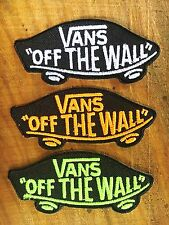 Vans off the Wall SKATEBOARD IRON ON PATCHES 3 PCS