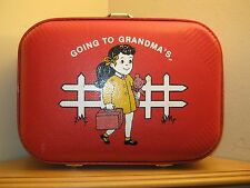 VINTAGE GOING TO GRANDMA'S HOUSE CHILD SUITCASE L@@K *FREE SHIPPING*
