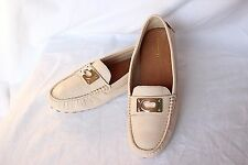 NEW Milk Ivory Cream COACH Leather NAPOLEON Womens Loafers Flats Walking Shoes 8