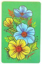 VINTAGE SWAP CARD. RETRO FLOWER DESIGN. ARRCO USA. MINT