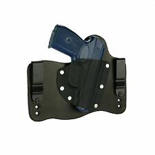 FoxX Leather & Kydex IWB Hybrid Holster Makarov Bulgarian Black Right Tuckable