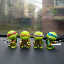 Teenage Mutant Ninja Turtles TMNT Set of 4 Mini Figures PVC Dolls Car Decor Gift