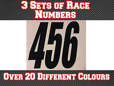 3 Sets Custom Race Number Vinyl Stickers Decals MX Motocross Dirt Bike N17