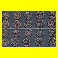10 echte römische Bronze Münzen, siehe Scan   LOT Nr. (3)