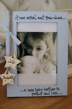 Personalised Photo Frame by Filly Folly! New Big Sister, Baby Brother Gift!