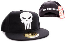 AWESOME MARVEL'S THE PUNISHER SKULL BLACK SYMBOL SNAPBACK CAP HAT *BRAND NEW*