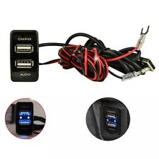 Car Dual USB Charger Audio Port Interface For Toyota FJ Cruiser 2007-2014 08 09