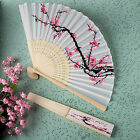 1pcs Chinese Folding Hand Fan Japanese Cherry Blossom Design Silk Costume Party