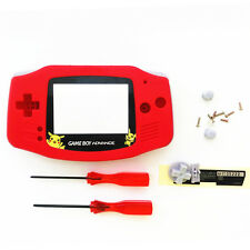 Pikachu Pocket Monsters Housing Shell for Nintendo Game boy Advance GBA - Red