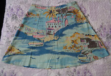 Ladies Boden Retro Look A Lined 100% cotton Skirt 24 inches Long UK size 16 R