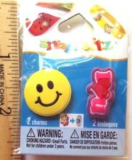 Snap It Snap Itz 2 Charms Smiley Face and I Love You, NEW