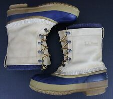 L.L. Bean Men's Boots Sz 8 Insulated Maine Hunting Shoe Made in USA Duck Leather
