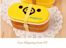 Rilakkuma San-X Chicken Lunch Box Bento High Heat Resistance w/ Free Chopsticks