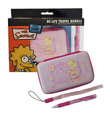 Official PINK Lisa Simpsons Travel Pack - Hard EVA Case Stylus Nintendo DS Lite