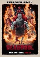 POSTER DEADPOOL DEAD POOL MARVEL WADE WILSON RYAN REYNOLDS LOCANDINA CINEMA #8