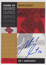 2000 00-01 UD Heroes Signs of Greatness #MG Michel Goulet 04-05 SP Buyback