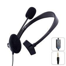 Gaming Headset Mono für PS4 PlayStation PS 4 Kopfhörer Mikrofon Einohr 1x 3,5 mm