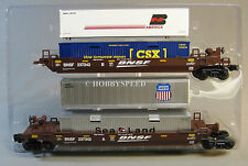 LIONEL BNSF MAXI-STACK 2 PACK CAR csx up bn  husky stack train container 6-81466