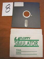 Floppy disc 5.25 inch 5 1/4 Commodore 64 simulator scritta 34 Toga Greg giochi