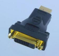DVI-D Female(24+1pin) to HDMI Male(19pin) Monitor HDTV Adapter Gold