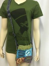 Made In Nepal Purse Peace Sign Messenger Bag Small Crossbody Cotton Tie Dye
