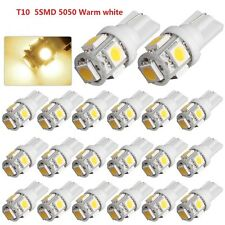 20 X Warm White T10 Wedge 5SMD 5050 Car LED Light W5W 2825 168 158 192 194 175