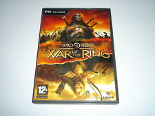 Lord Of The Rings War Of The Ring CD CD-ROM Game With Manual