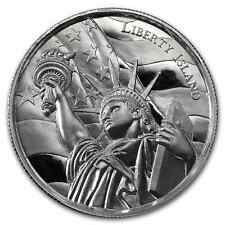 2~OZ ~PURE .999 SILVER ROUND ~ LIBERTY ISLAND ~ ULTRA HIGH RELIEF ~ $48.88 ~ BUY