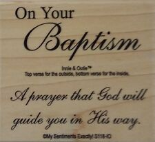 NEW MSE! My Sentiments Exactly! Unmounted Rubber Stamp S118 Adult Baptism