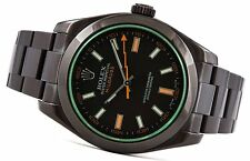 Rolex Milgauss 116400GV Green Crystal Black PVD V Serial 40mm Automatic