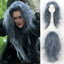 70cm Disney Movie Into the Woods Wavy Grey Witch Synthetic Anime Cosplay Wig