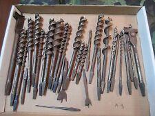 30 Vintage Auger Bits Jennings Irwin etc. plus auger drill