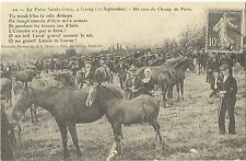 "French Print Postcard of ""The Lessay Horse Fair at Manche,Normandy,France"""