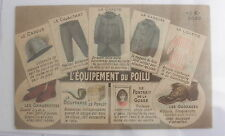 French Advertising Postcard for WW I Military Clothing~~France