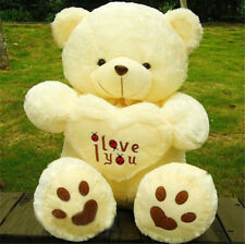 New Design Large big holds Hearts I LOVE YOU Bear Plush Doll toy teddy Bear 70CM