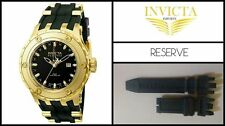 Black Silicone Rubber Watch Band Strap For Invicta Subaqua RESERVE