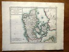 CARTE GEOGRAPHIQUE FIN 18e - ROYAUME DE DANEMARK - LE JUTLAND ET SES ISLES