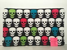 "Betsey Johnson NWT Memory Foam Black With SKULLS Bath Mat 21"" X 34"""