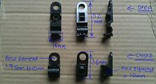FIX8RRR 10mm ONE HOLE PIPE CABLE TUBE WIRE HARNESS ROUTING CLIP FIXING CAR x 10