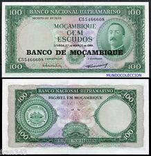 MOZAMBIQUE MOÇAMBIQUE 100 Escudos 1961 1976 Pick 117a  SC / UNC