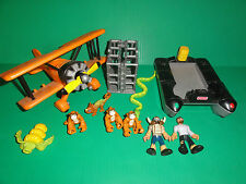Fisher-Price Imaginext Jungle Rescue Lost Creatures Playset Raft Plane &Hero