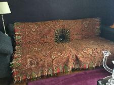 CHALE EN CACHEMIRE ANCIEN BRODE - INDE 2nd Empire - Signé 189 x 189 cm