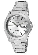 Seiko 5 SNKK87 Men's Stainless Steel Silver Dial Day Date Automatic Watch