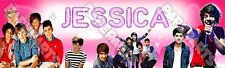 One Direction Pink Poster 8.5x30 Personalized Custom Name Printing for Kids