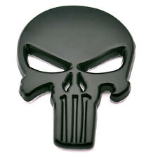 Black THE Punisher skull Skeleton Car Motorcycle body FOR Golf SRT Emblem Badge