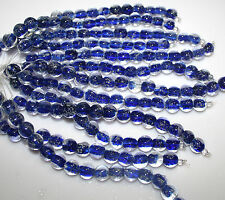 Glow in the Dark Glass beads Cobalt Blue Round Shape 10mm 1 Strand 15 beads