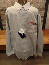 Apex Performance Button Down Shirt Long Sleeve Teflon Repel Ash City Men's L NWT